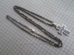 Новая цепочка с крестиком 11, 5 грамм, серебро 925.