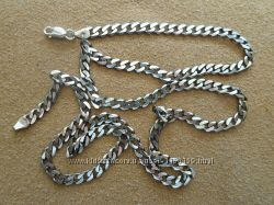 Новая серебряная цепочка панцырь 24, 5 гр. , серебро 925.