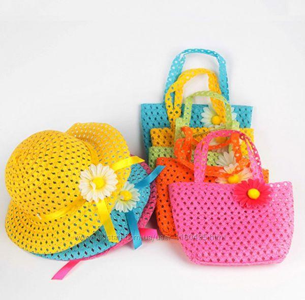 Шляпка  сумочка для девочки