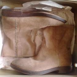 Ботинки замшевые женские ЕGJ Италия, р. 3724см