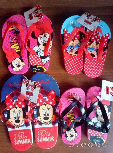 Детские шлепки Минни Маус Minnie Mouse Дисней Скай Эльза