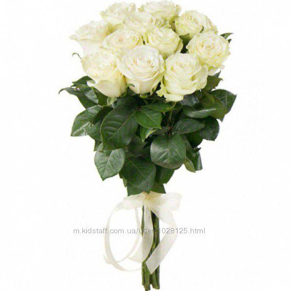 11 белых роз  Супер цена.