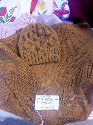 Комплект шапка и платок ручная работа