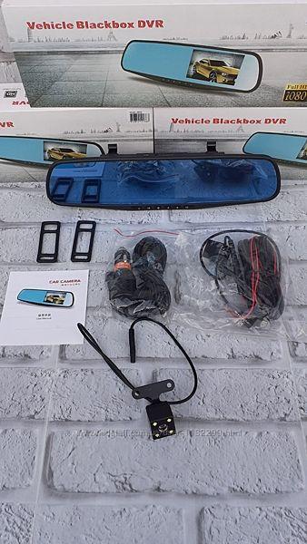 Зеркало видеорегистратор с камерой заднего вида разметка для парковк