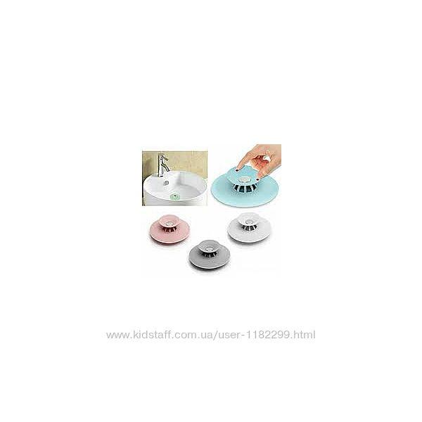 Фильтр заглушка для раковины/Пробка для ванны силиконовая