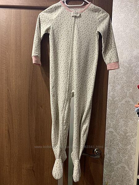 Флисовый человечек, слип, пижама Carters картерс 5т, 110 размер