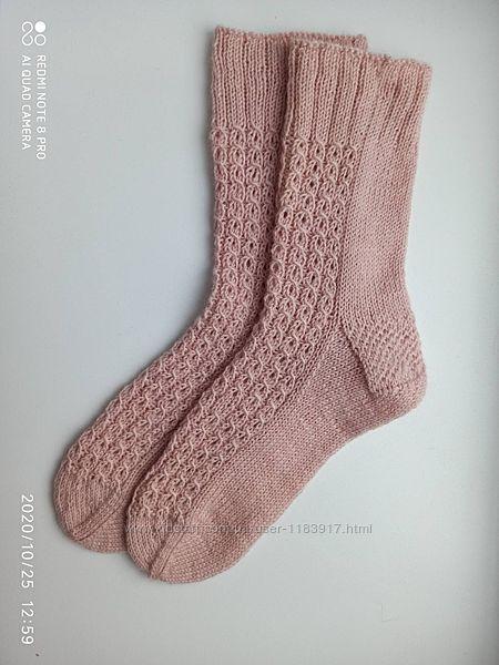 Носки вязаные женские шерстяные ручная работа