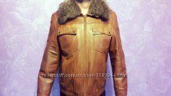зимняя кожаная мужская куртка и пиджак
