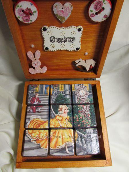 Набор кубиков с картинками сказок