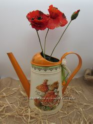 Лейка для полива цветов, декоративная ваза для сухоцвета