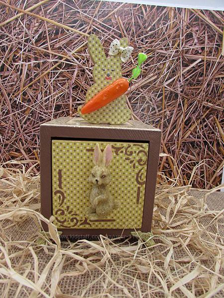 Пасхальная шкатулочка с зайчиком