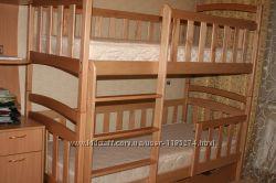 Двухъярусная детская кровать Карина-Люкс с дерева - раскладывается