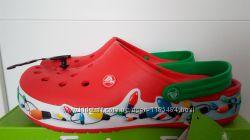 Сабо с мигалками Crocs Crocband Holiday Lights Classic Clog M9. Оригинал