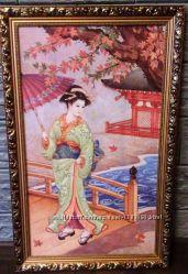 Картина репродукция Прогулка японской красавицы