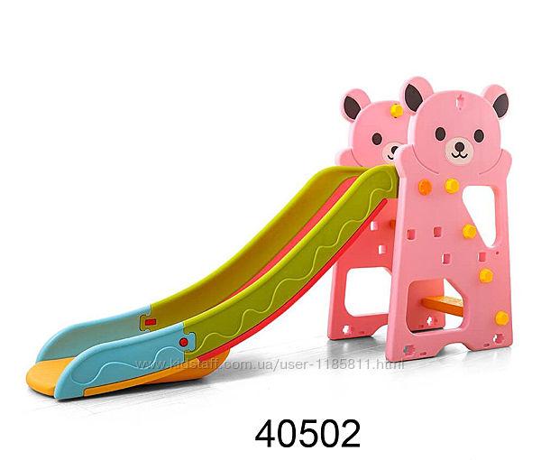 Toti Т горка детская пластиковая для площадки с баскетбольным кольцом
