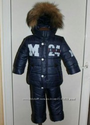 Зимний комбинезон, куртка на флисе и штаны 86, 92, 98, 104, 110, 116