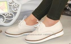 Ботинки, туфли, лоферы на шнуровке, экокожа
