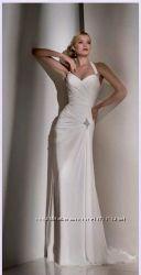 Выпускное платье в пол светлое камни Swarovski