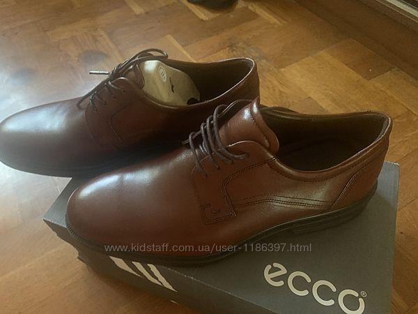 ECCO кожаные мужские туфли 45 размер оригинал