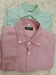 Продам пару теплых рубашек на мальчика, р.152, VD one, цена за 2шт