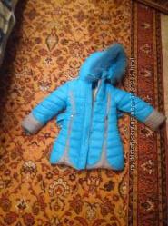 13297c36956 Теплая куртка для девочки 3-4 лет