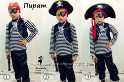 Детский карнавальный новогодний костюм Пират три варианта