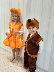 Велюровый костюм медведя карнавальный
