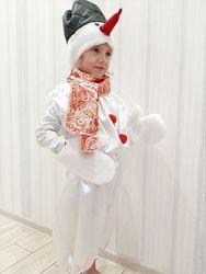 Детский новогодний карнавальный костюм Снеговик