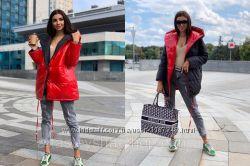 Двухсторонняя куртка Зефирка норма и ботальной серии