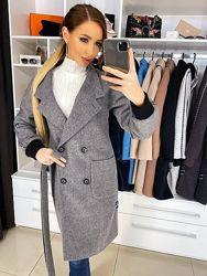 Пальто Наоми шерсть с манжетом