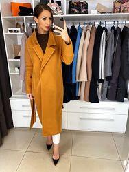 Шерстяное пальто  Одри миди весна-осень, 42, 44, 46, 48 с подкладкой