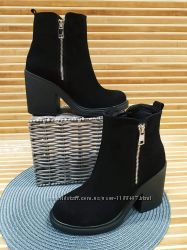 Красивые ботиночки натуральная замша и кожа