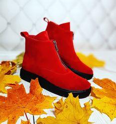 Мега удобные и крутые ботинки натуральная замша осенние и зимние