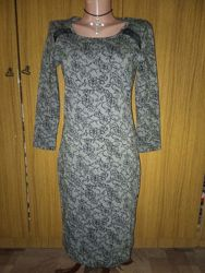 Теплое трикотажное платье Fransa