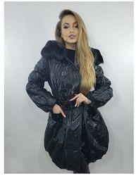 Удлиненная женская демисезонная куртка плащ  44-50