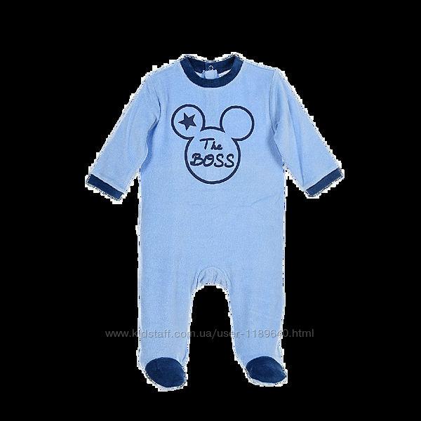 Человечки пижамы Disney 6,12,18,24 м.