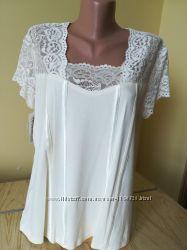 Женская футболка - блуза под жакет три цвета вискоза Польша
