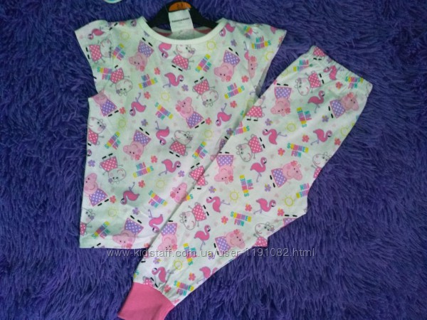 Пижама для девочки футболка штаны George Код. 190902