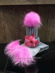 Комплект Любимый от Мокошь, цвет серый с розовым
