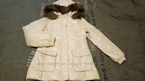 куртка пуховик зима Benetton, рост 160-165см