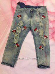 Яркие летние укороченный джинсики Размер 29