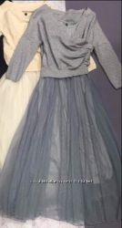 стильный наборчик - платье маечка с фатиновой юбочкой и кофточка болерошка
