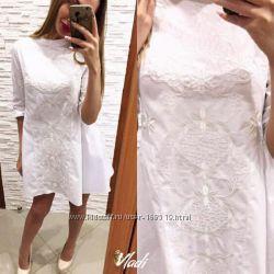 Шикарное платье Турция хлопок с вышивкой размер 44