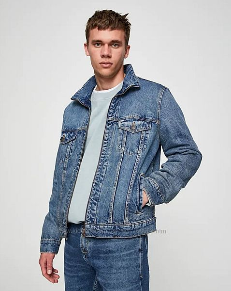 Мужская джинсовая куртка от Pull&Bear, S, оригинал, Испания