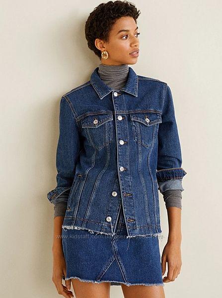 Джинсовая куртка от Mango, XS-S, оригинал, Испания