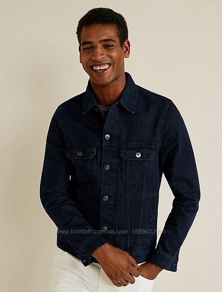 Мужская джинсовая куртка от Mango, М, XXL, оригинал, Испания