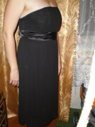 Платье черное шифоновое George новое р. 50-52