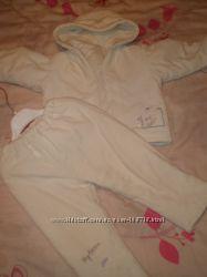 Демисезонный велюровый костюм раздельный, осень -весна р. 86