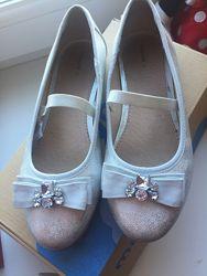 Mayoral туфельки серебро