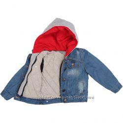Стильная теплая джинсовая куртка ZARA.